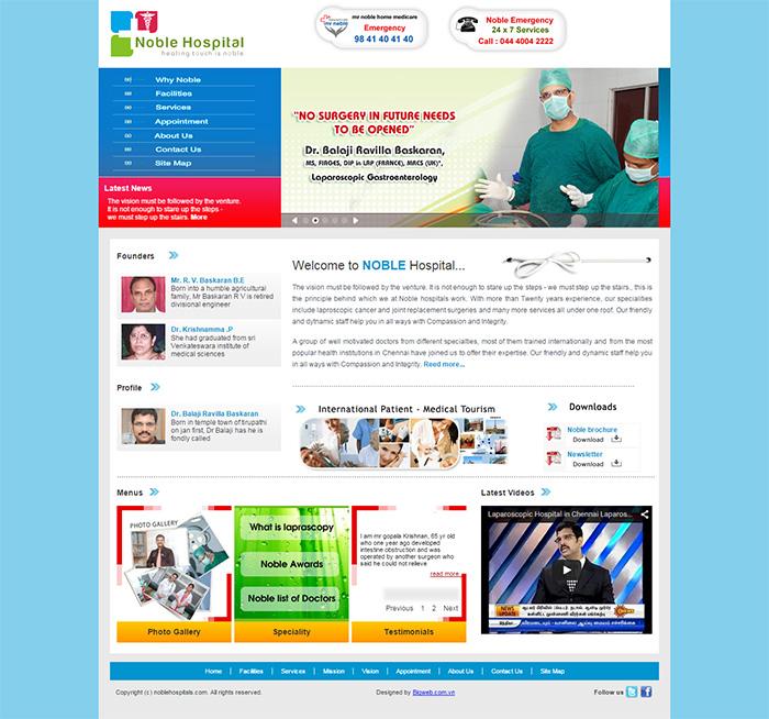 thiết kế web phòng khám , nha khoa, bệnh viện